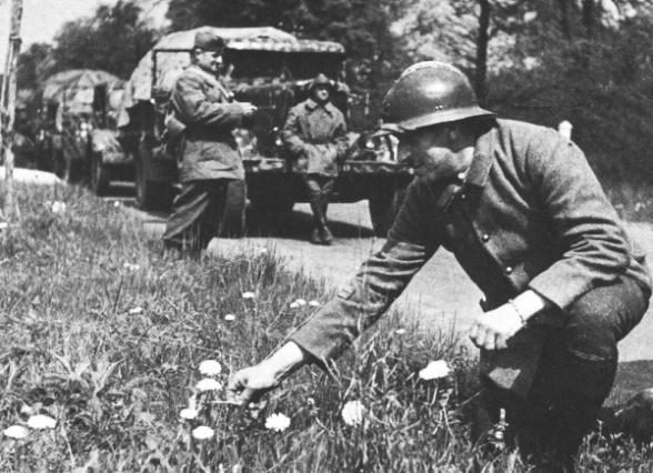 Soldats français durant la drôle de guerre
