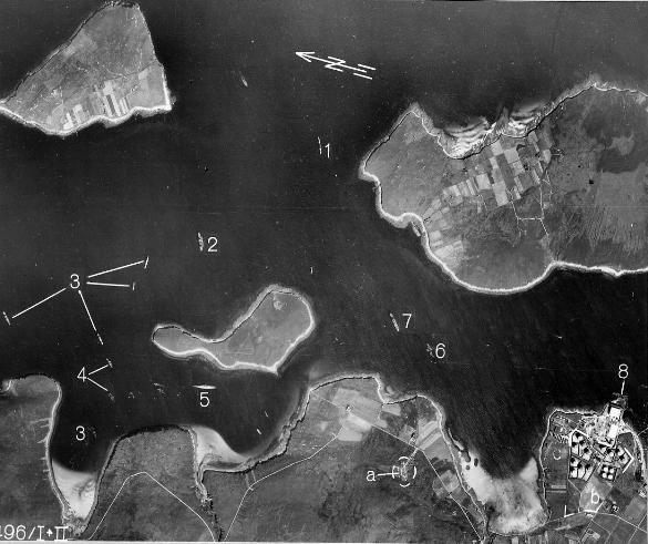La rade de scapa flow, photographié en octobre 1939 par un avion de