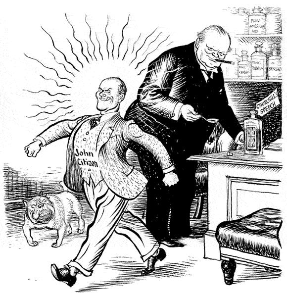 Caricature de leslie illingworth paru dans le daily mail le 10
